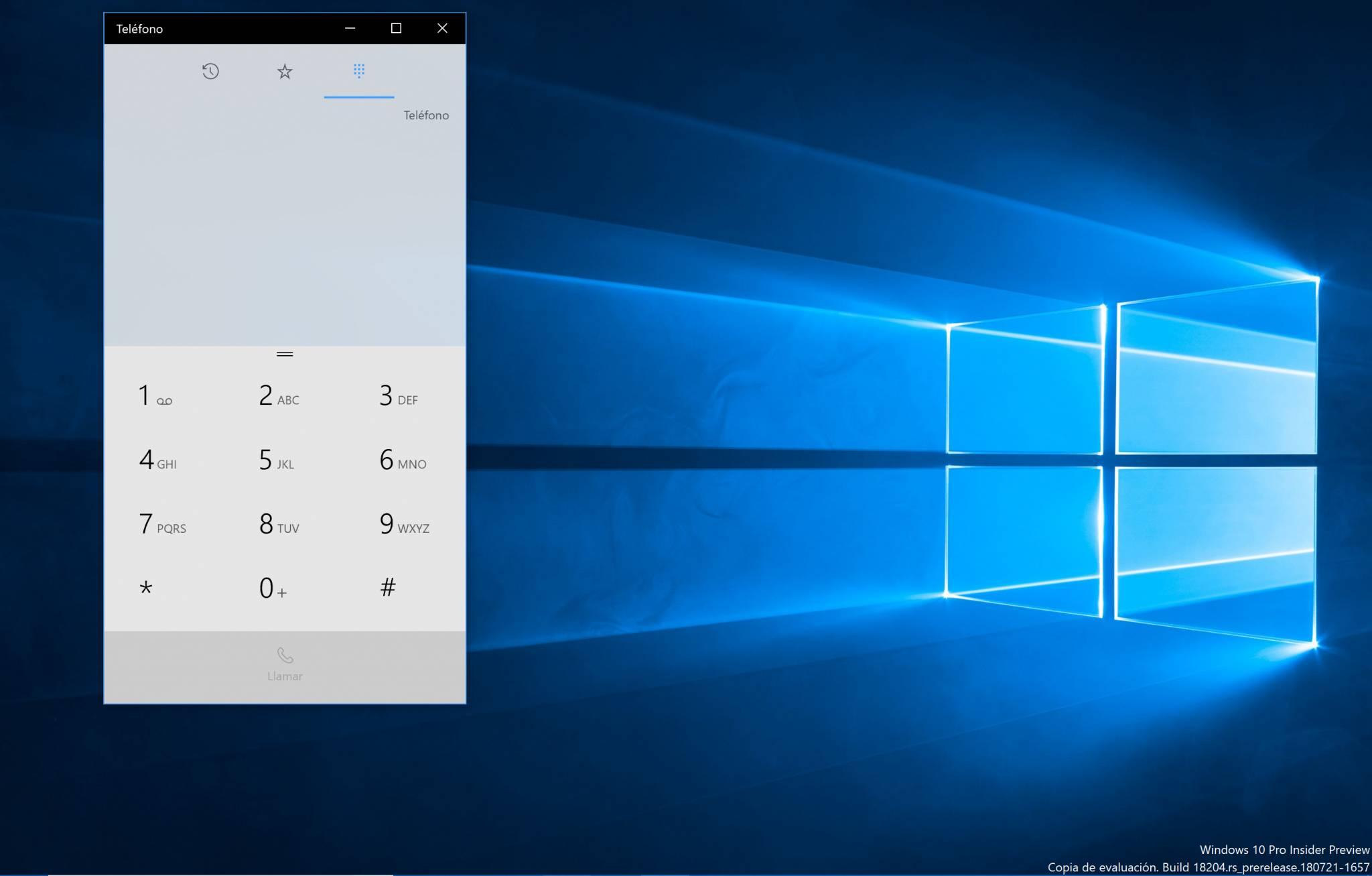 Dial del telefono en PC