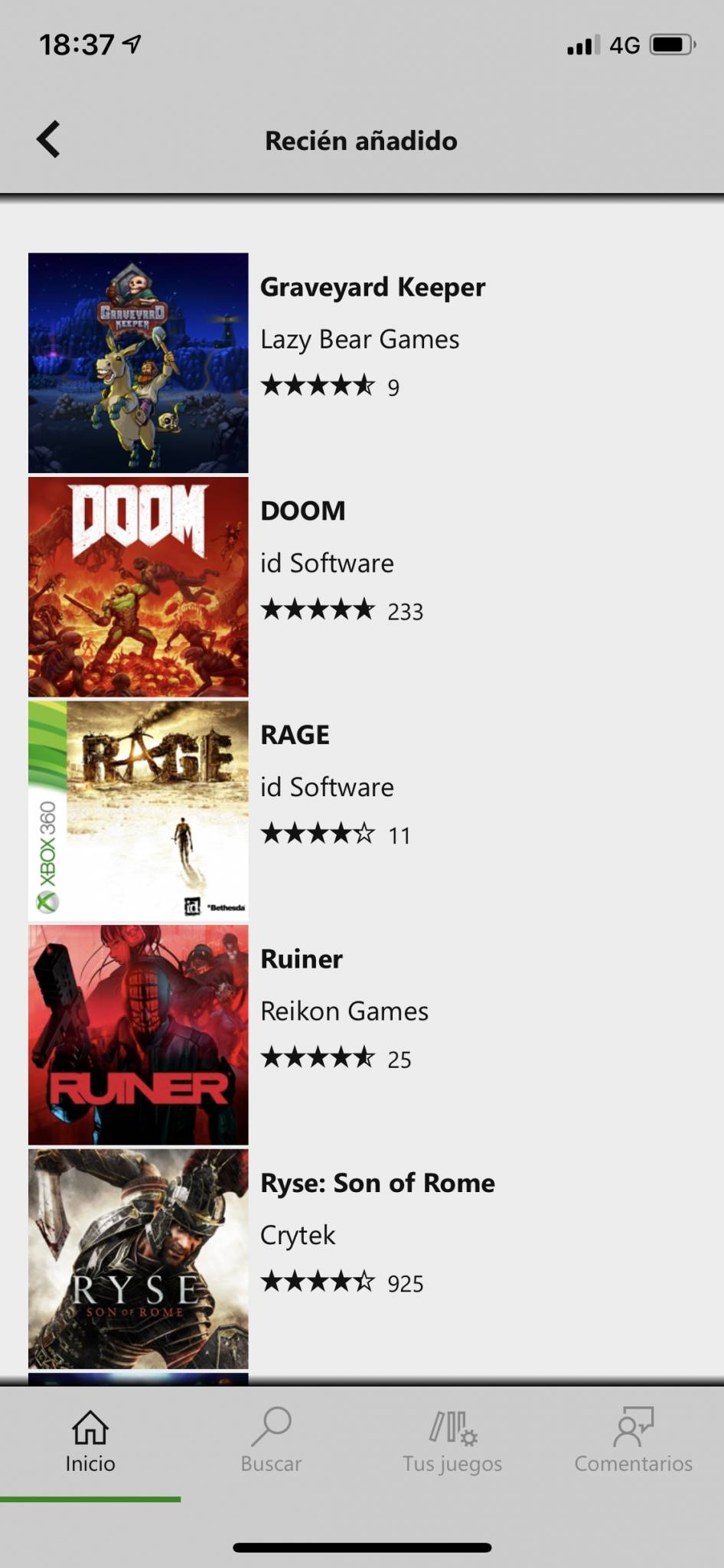 Añadidos recientemente en Xbox Game Pass para iOS