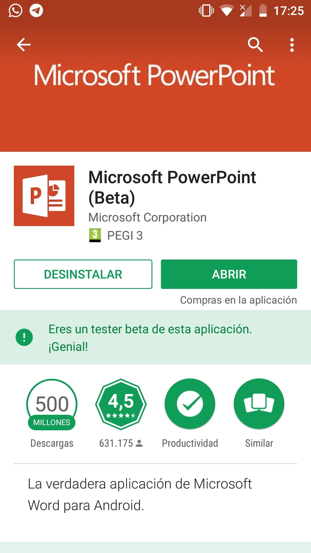 PowerPoint Mobile Android