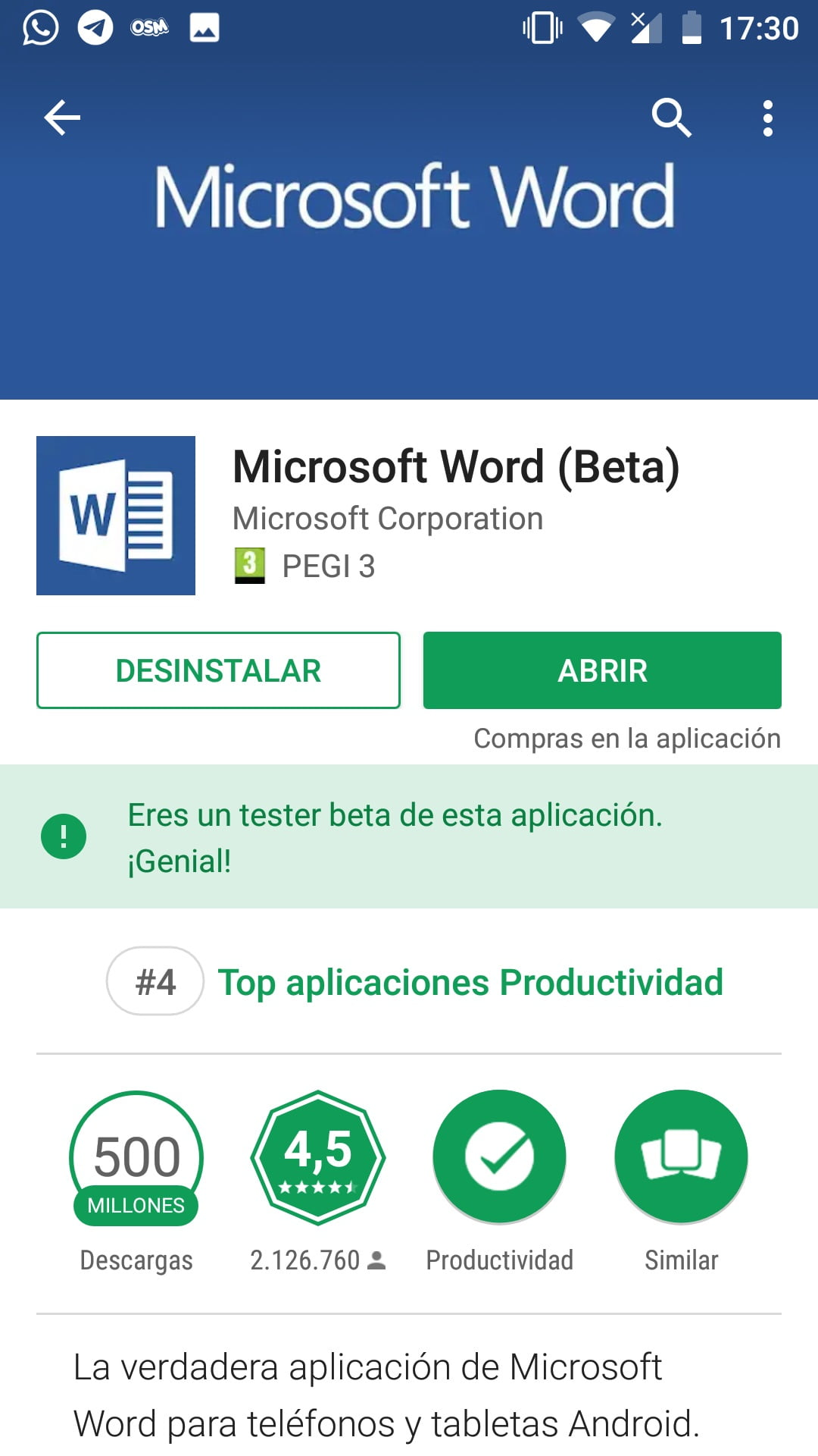 Word Mobile Android