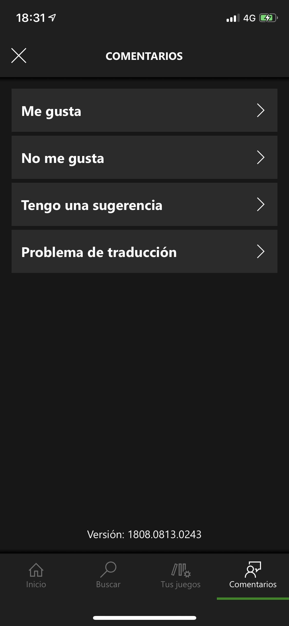 Dar feedback en la aplicación de Xbox Game Pass para iOS