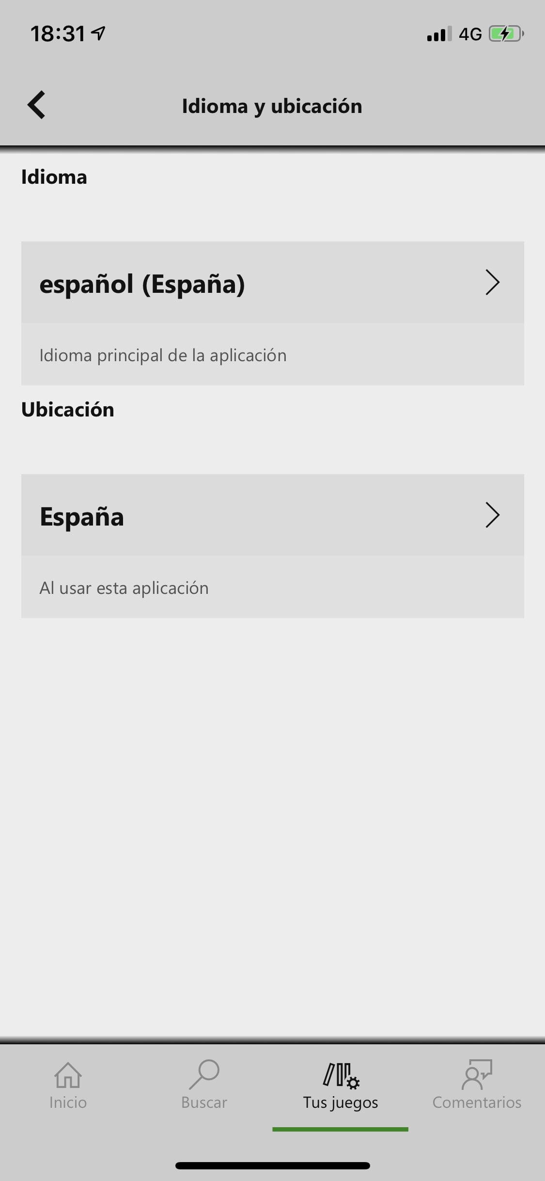 Elige el idioma en Xbox Game Pass para iOS