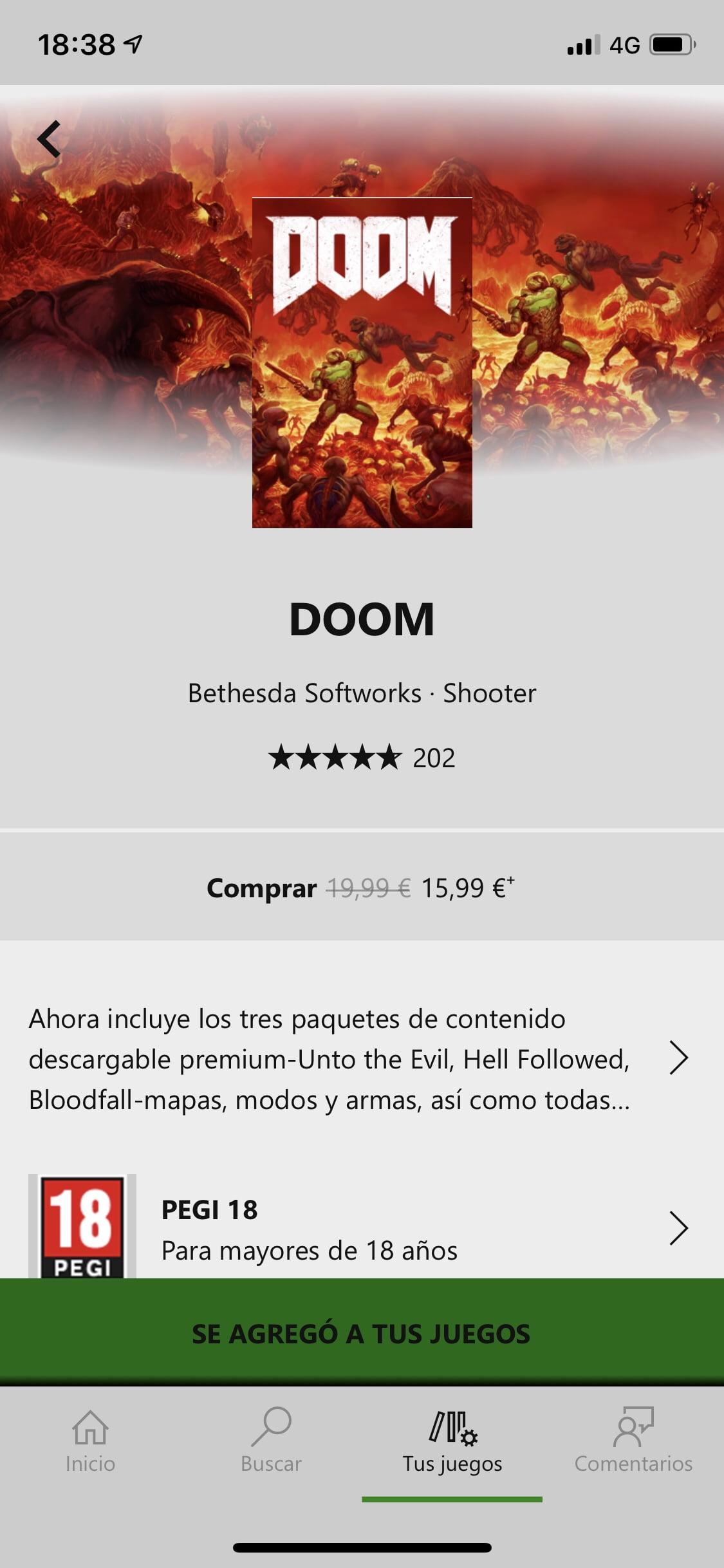 Añadir a lista de juegos en Xbox Game Pass para iOS