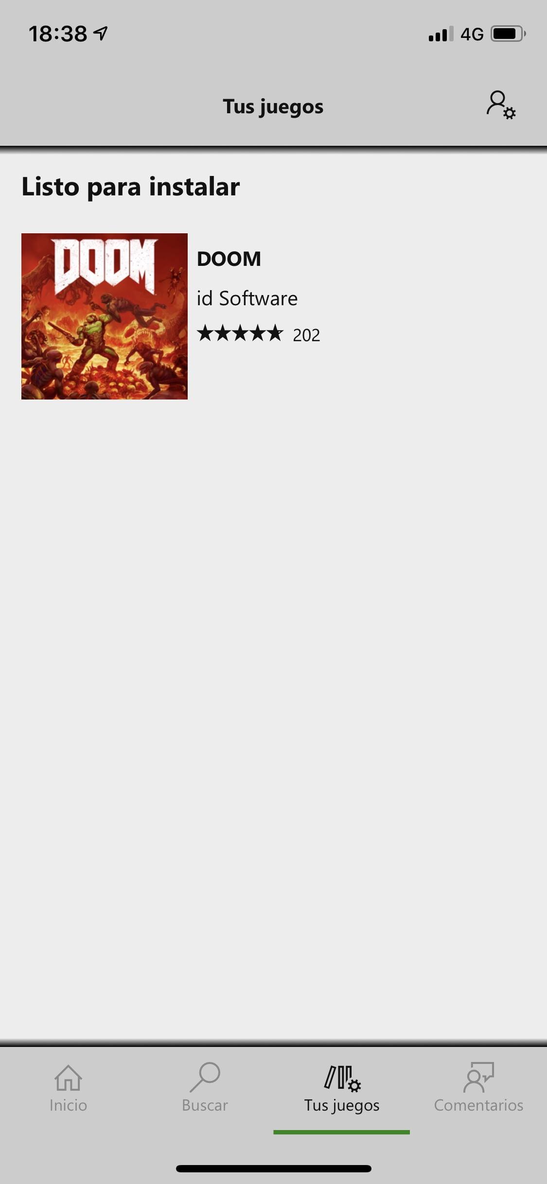 Lista de mis juegos en Xbox Game Pass para iOS