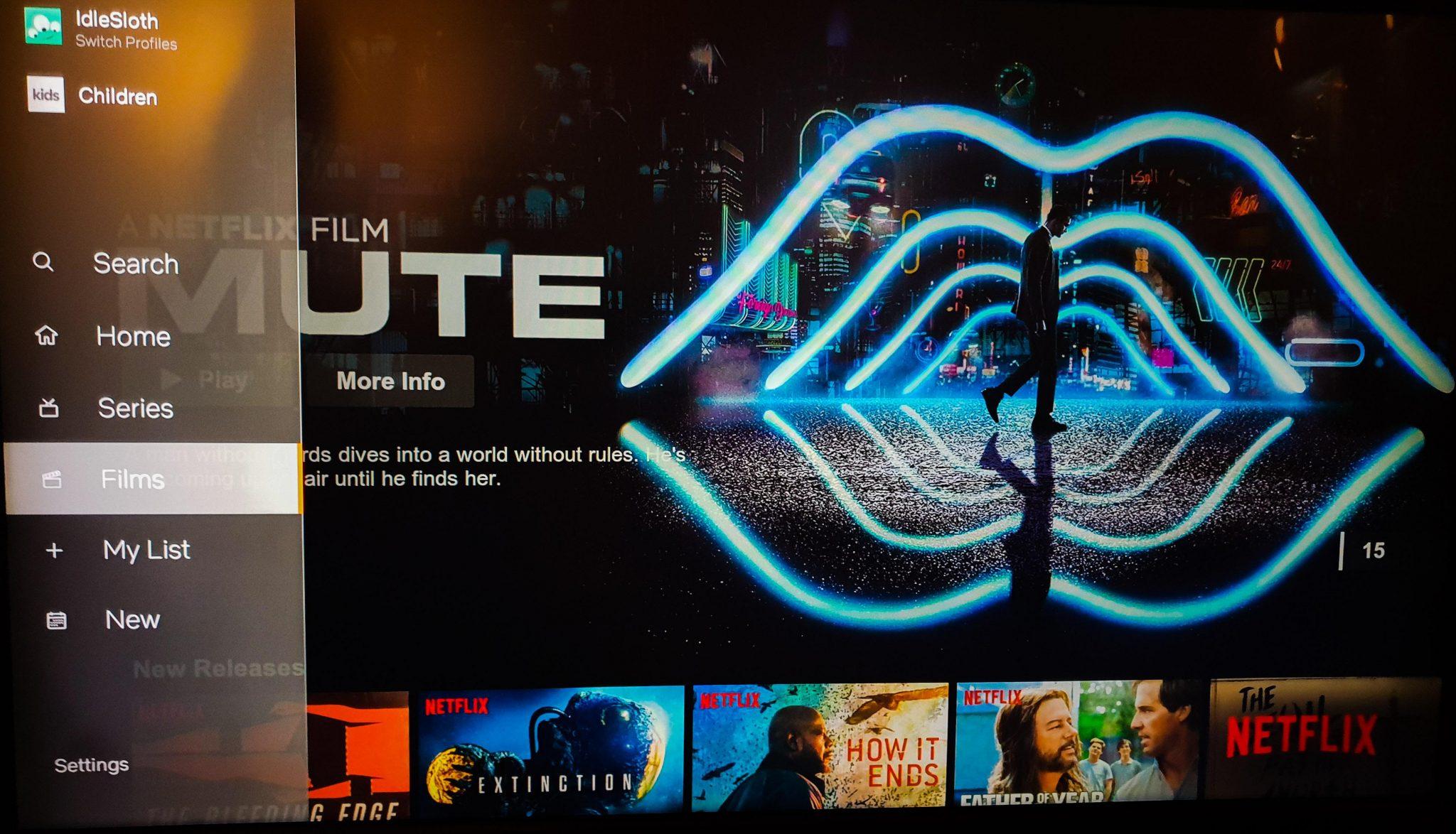 Fluent Design en Netflix