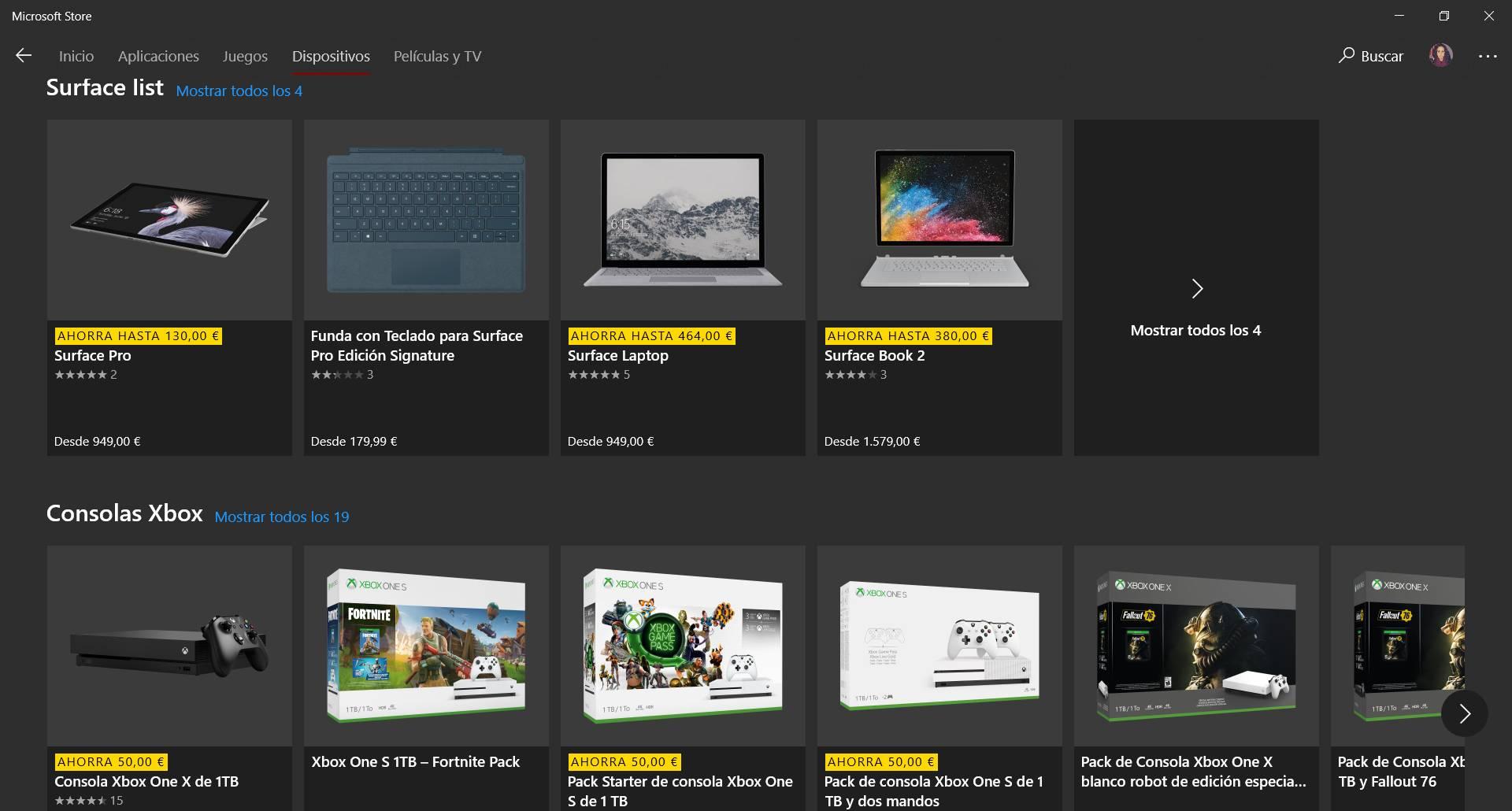 La tienda de Microsoft ahora nos permite comprar dispositivos