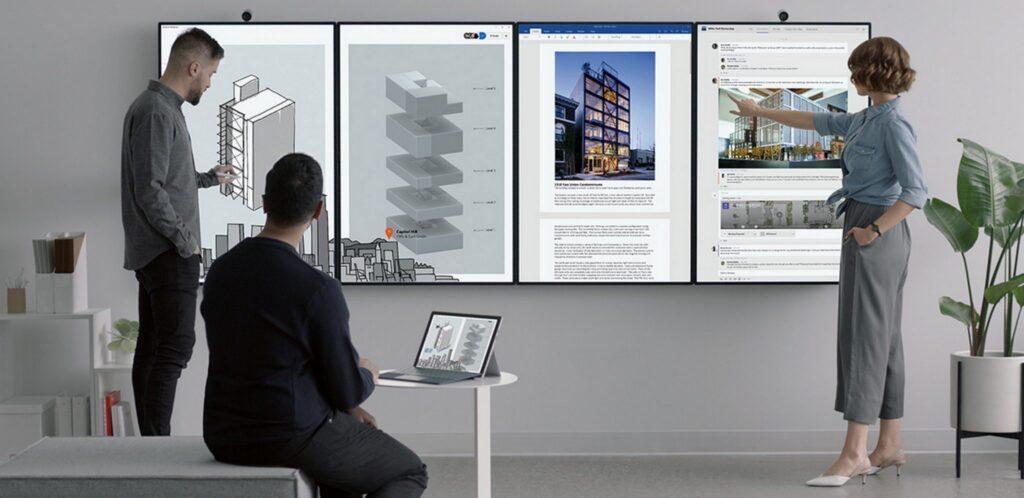 Imagen promocional de la Microsoft Surface Hub 2X