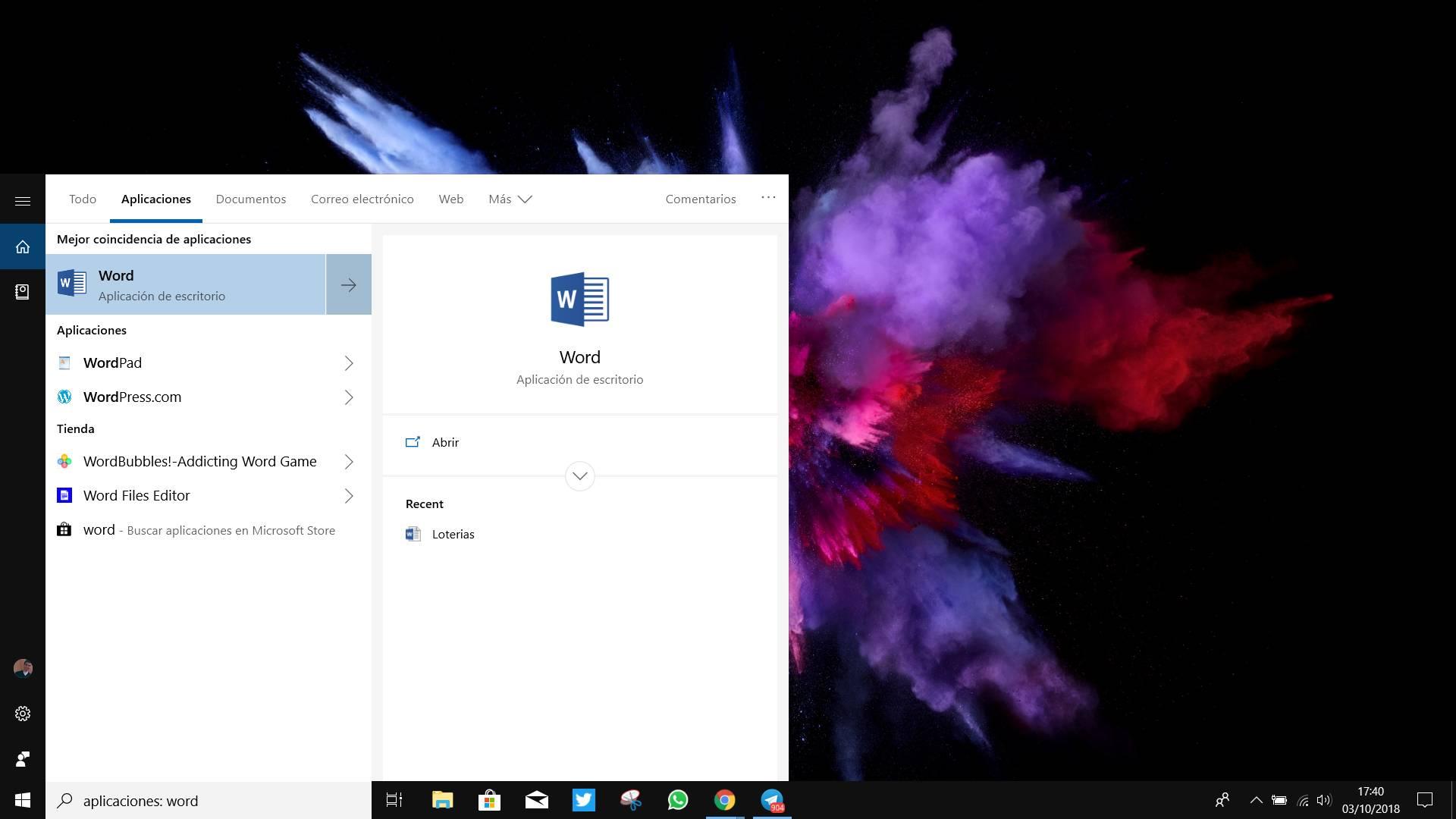 Cortana en W10 October 2018 Update