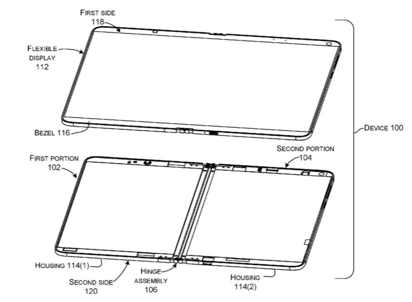 Patente de dispositivo plegable de Microsoft