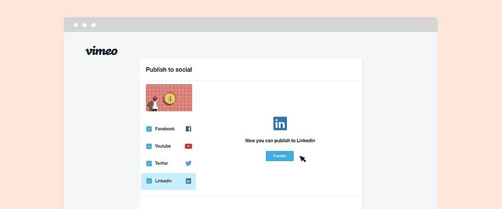 Vimeo gana integración en LinkedIn