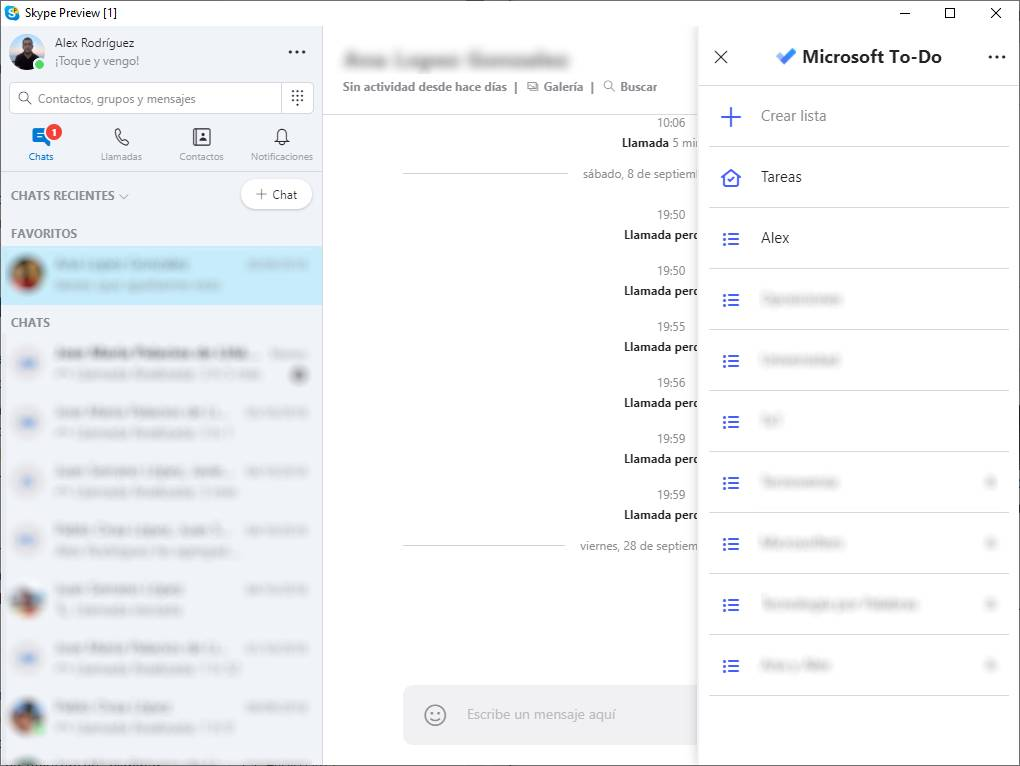 Skype con Microsoft To-Do