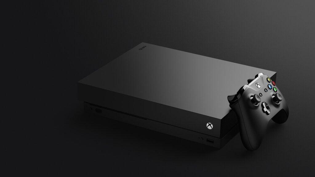 Imagen de la Xbox One X negra