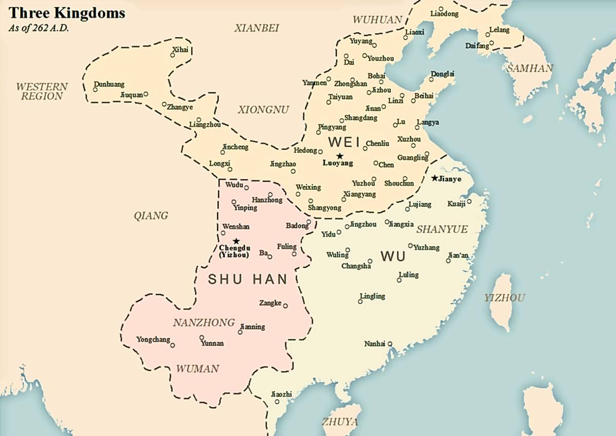 Conocemos los tres reinos de China