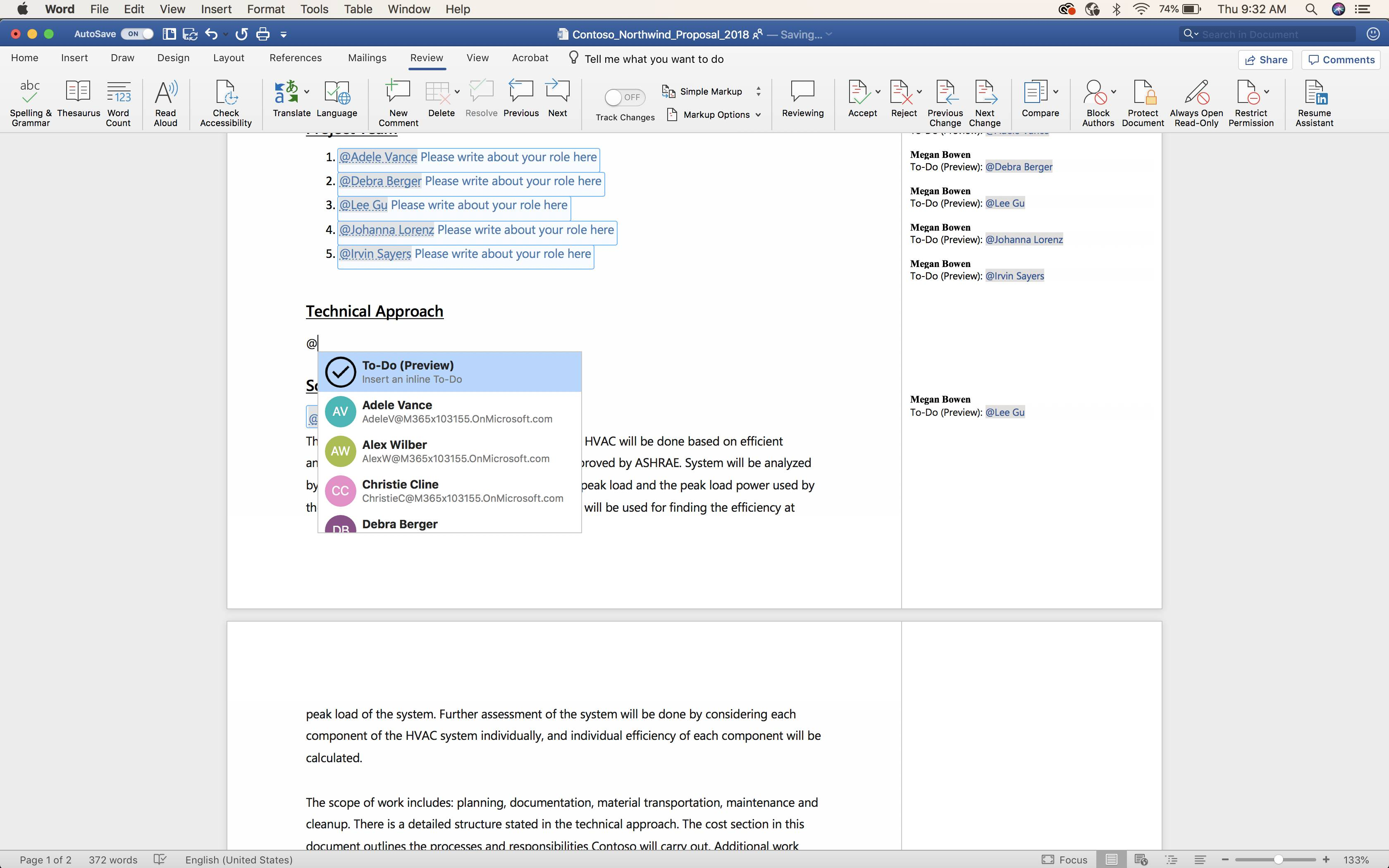 Tareas en Microsoft Word