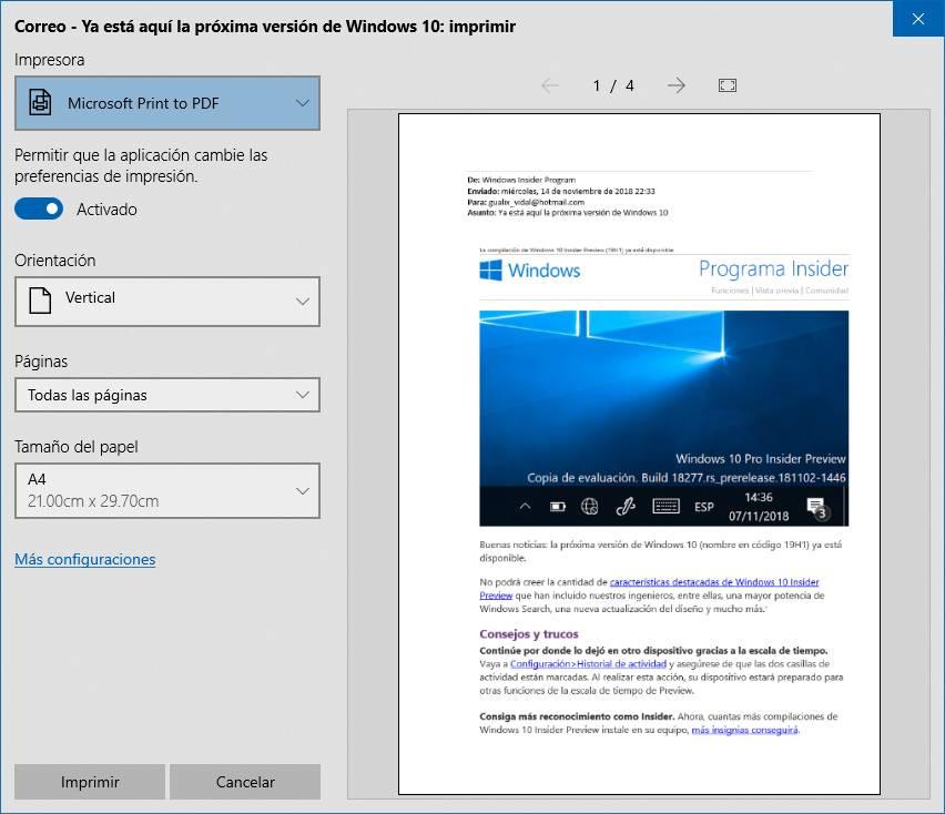 El tema claro mejora en Windows 10