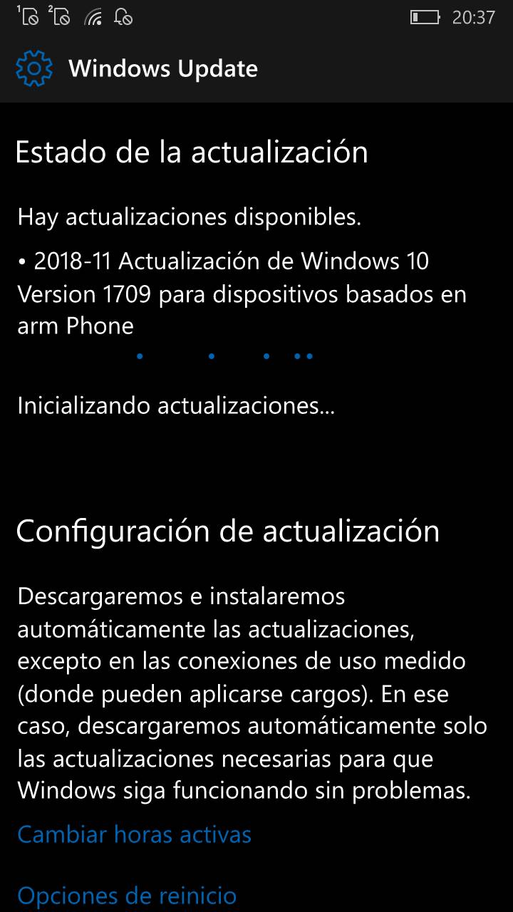 Windows 10 Mobile 15254.541