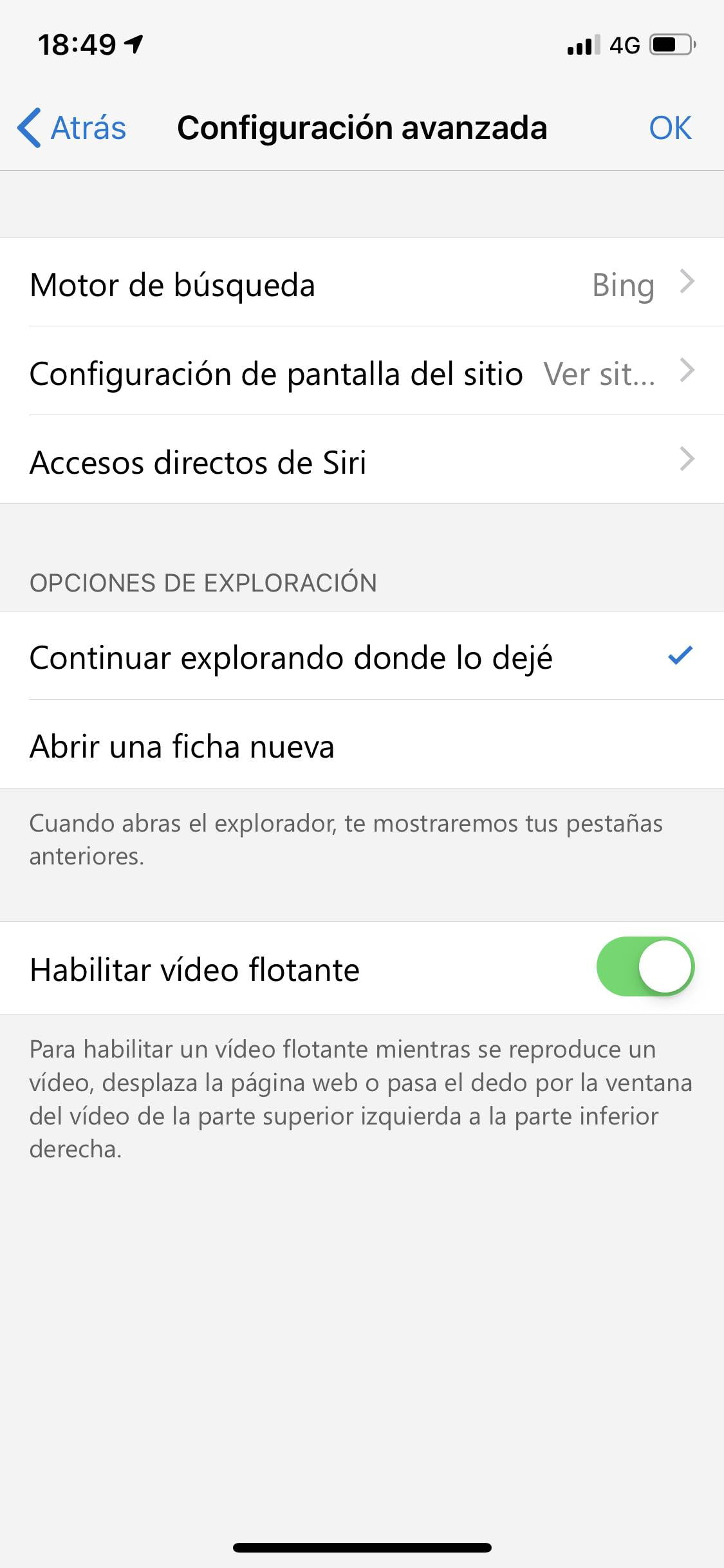 La preview de Microsoft Edge se actualiza en iOS