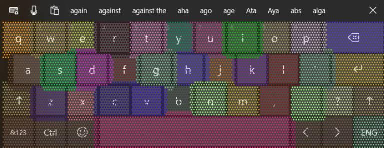 Mejoras en el teclado de la Build 18298