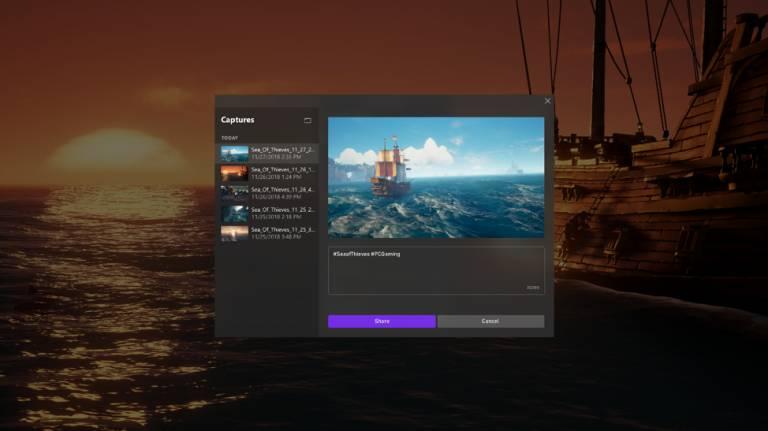 Nuevas opcioens de la barra de juegos de Windows 10