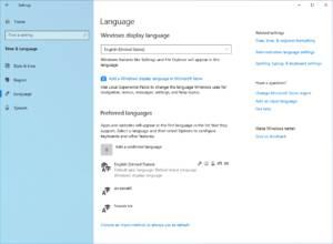 Idiomas nuevos en la Build 18329