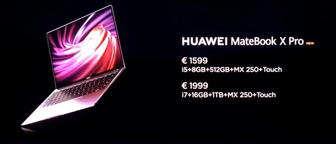 Precio Huawei MateBook X Pro
