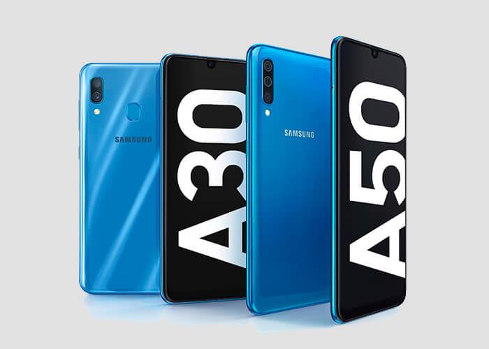 Samsung Galaxy A30 y Galaxy A50
