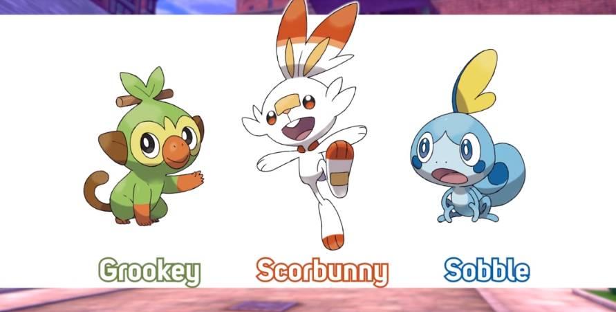 Iniciales de Pokémon Espada y Pokémon Escudo