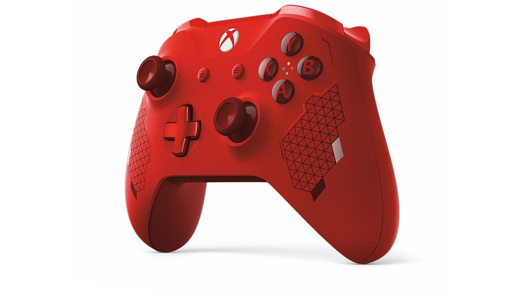 Mando rojo de Xbox One anunciado en el Inside Xbox de lado