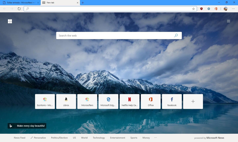Imagen de Microsoft Edge con Chromium