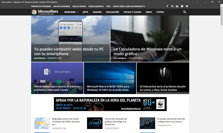 PWA de Microsoft Edge con Chromium