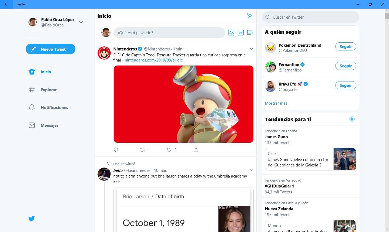 Aplicación nueva de Twitter PWA