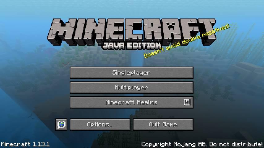 Menú de inicio Minecraft