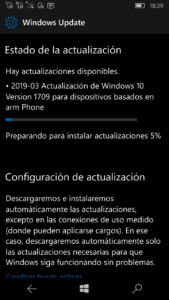 Windows 10 Mobile 15254.556