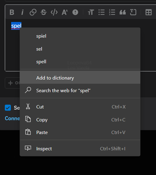 Corrector ortográfico en Microsoft Edge