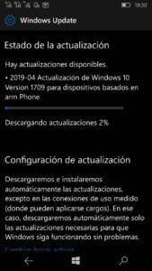 Windows 10 Mobile 15254.562