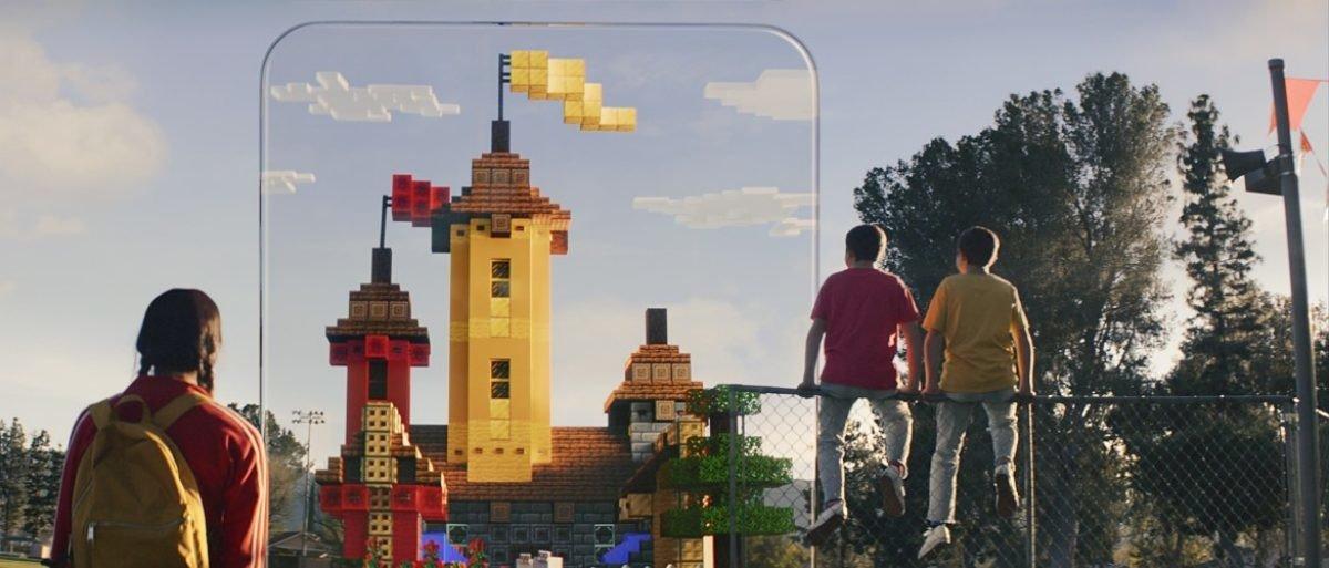 Minecraft Earth en el mundo real