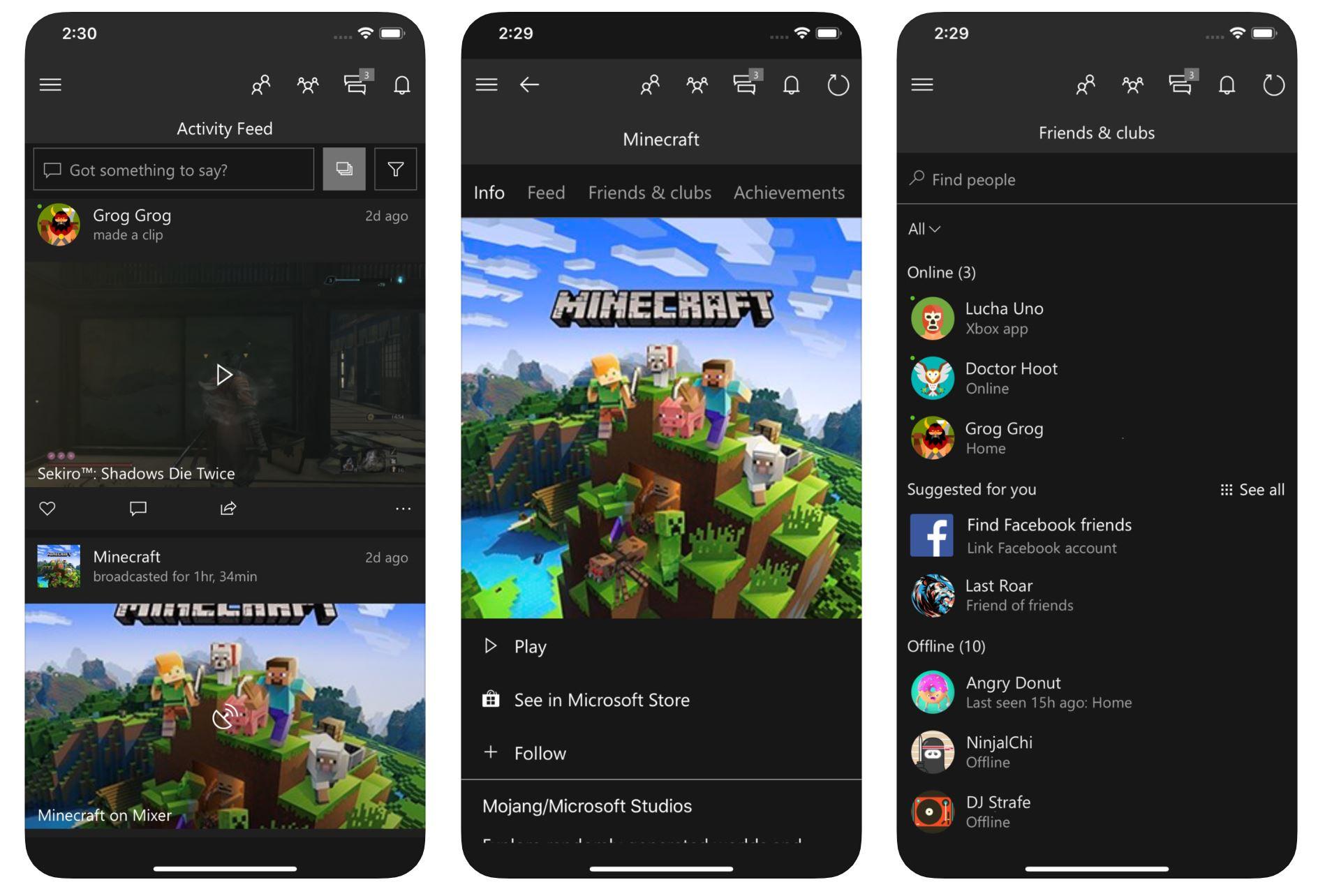 La app de Xbox mejora
