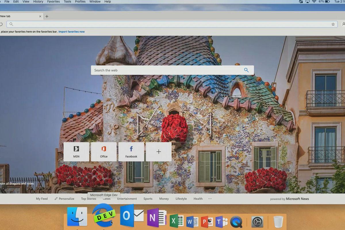 Microsoft Edge sobre Chromium en MacOS