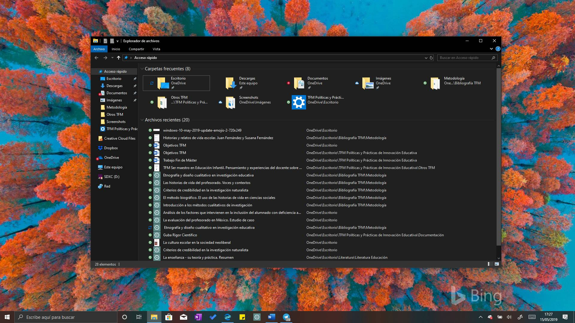 Explorador de archivos Windows 10
