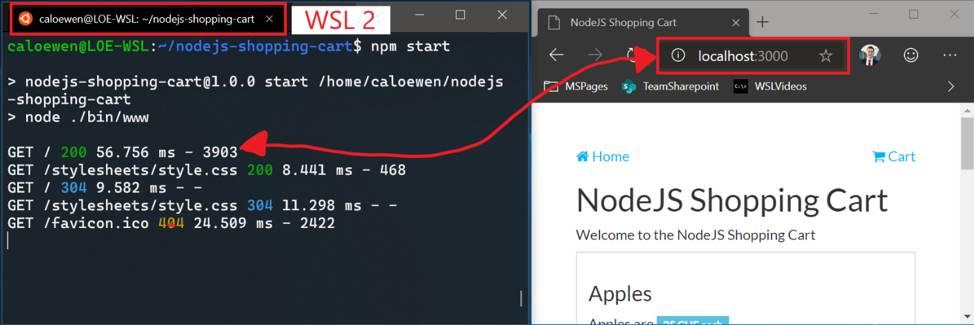Acceder a WSL 2 con localhost