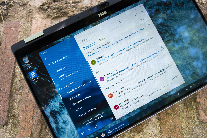 Aplicación de Correo en el Dell XPS 13