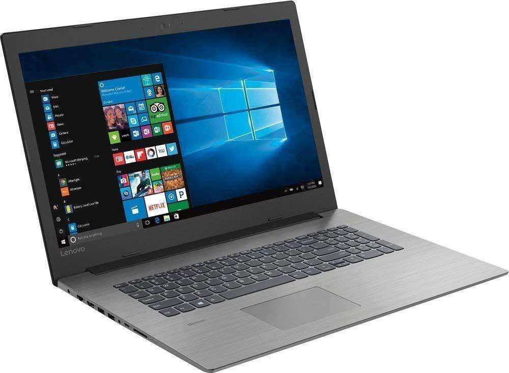 Pantalla y frontal del Lenovo Ideapad 330 con el menú inicio de Windows 10 abierto