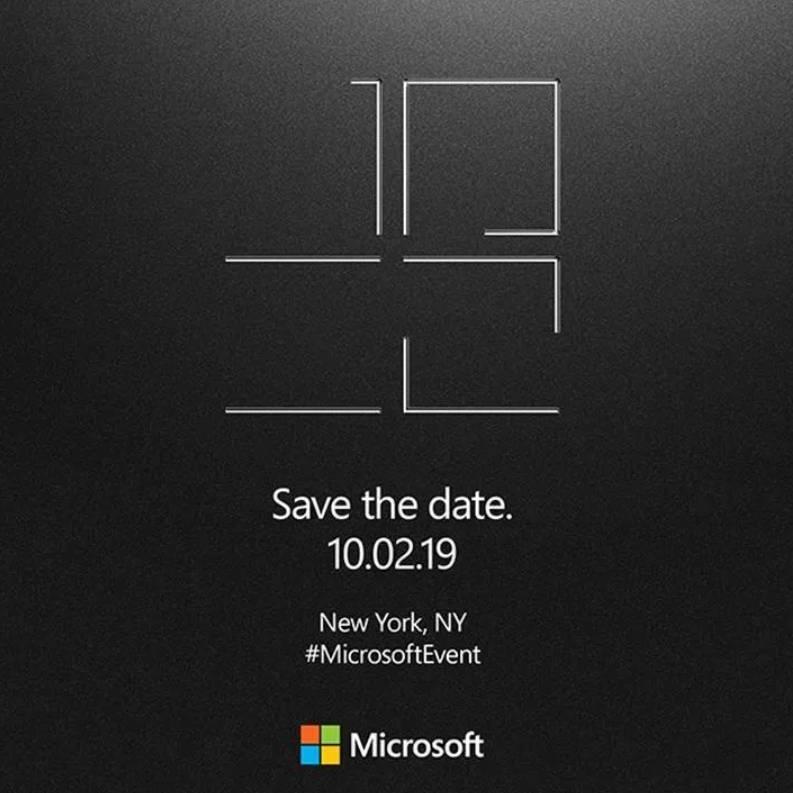 Imagen promocional del evento Surface de Microsoft