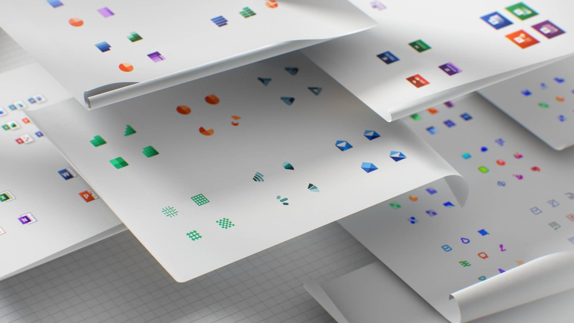 Los nuevos iconos de Office con Fluent Design