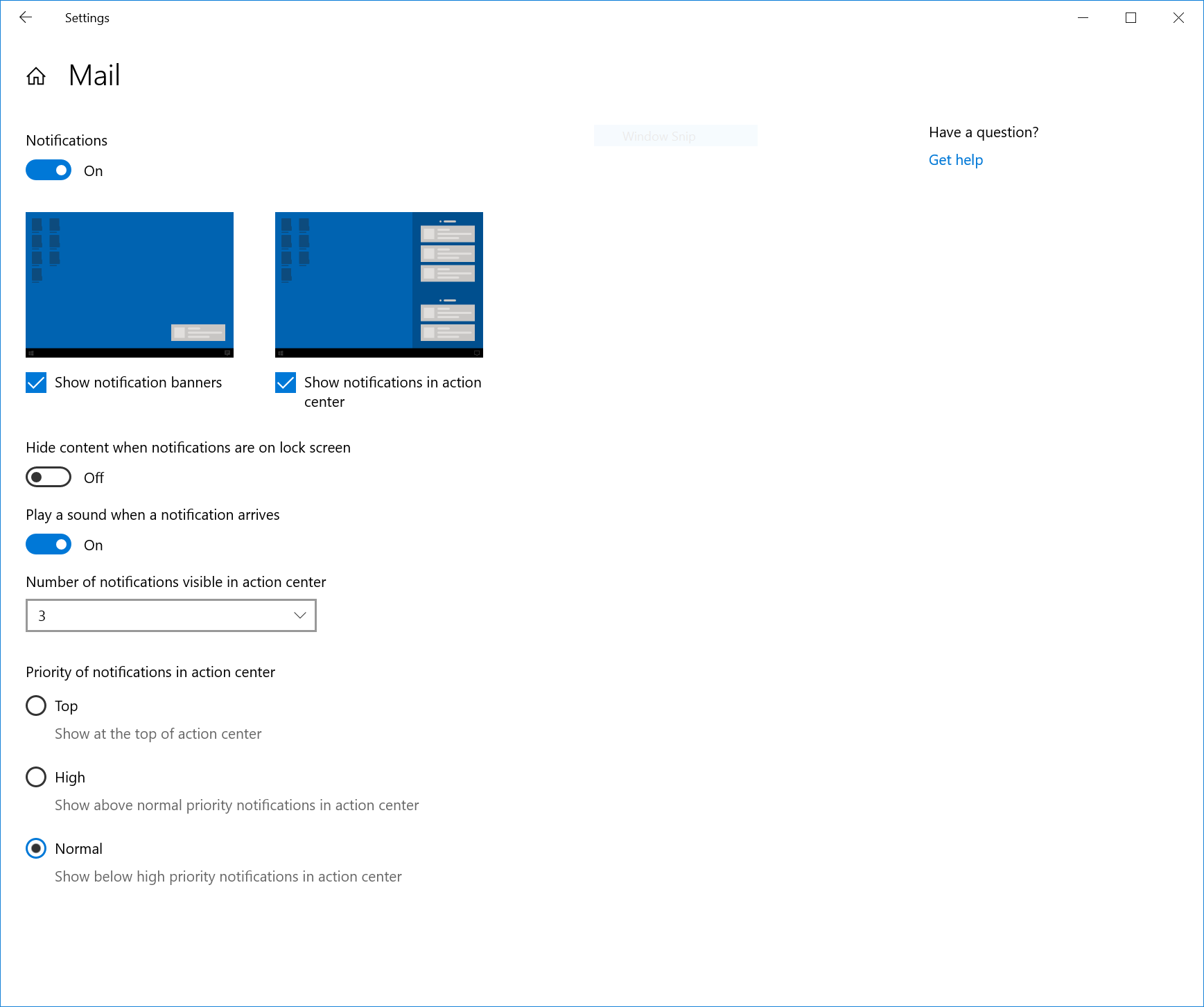 Ayudas para la configuración de notificaciones en Windows 10 19H2