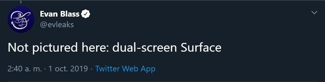 Evleaks indica la posibilidad de una Surface con doble pantalla