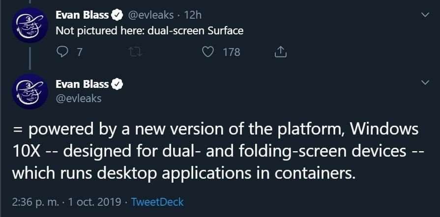 Evleaks filtra Windows 10X a través de Twitter