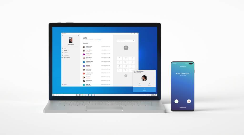 Compartir llamadas entre un móvil Android y Windows 10 con Tu teléfono en la Build 18999