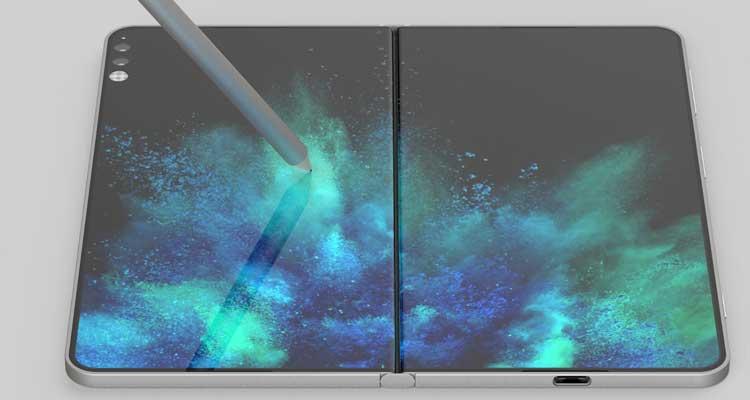 Concepto de Surface Centaurus con doble pantalla
