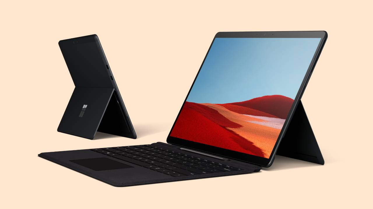 Frontal y trasera de Surface Pro X
